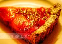 Tarta z płatków owsianych z owocami z kompotu | kielkismaku.pl