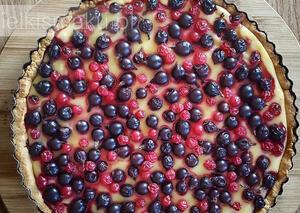 Tarta budyniowa z owocami (Thermomix) | kielkismaku.pl